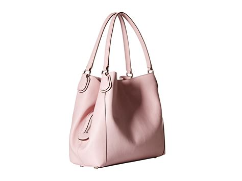 coach refined pebble leather edie 31 shoulder bag in pink