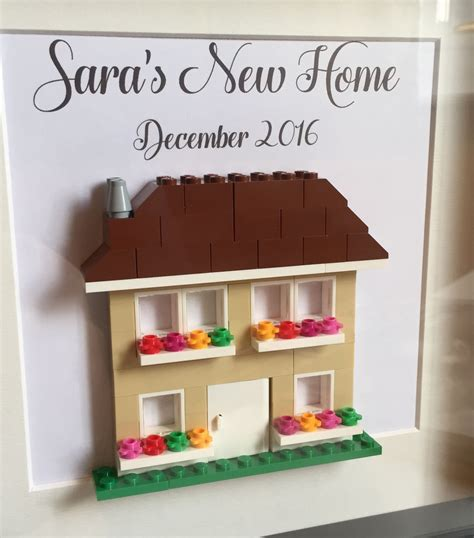 home gifts lego personalised new home housewarming gift frame