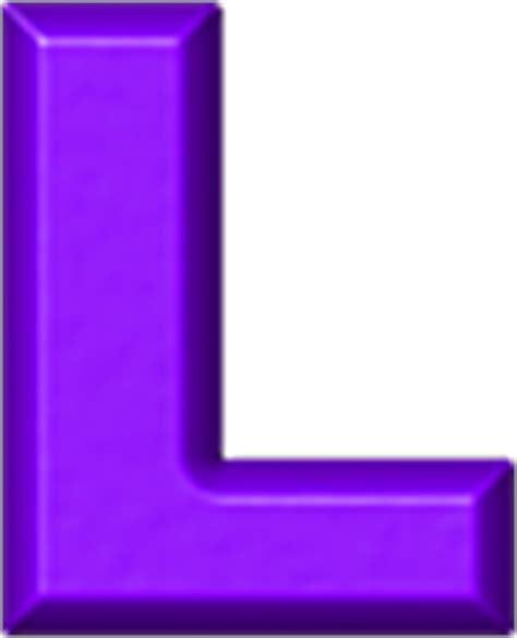Purple L by Presentation Alphabets Purple Refrigerator Magnets