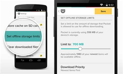 pocket for android pocket for android introduces offline storage limit better evernote integration and more bgr