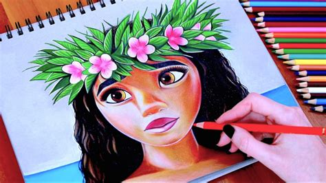 moana drawing wreath disney snapchat filter youtube