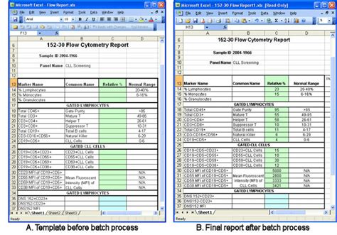 excel report template free business template