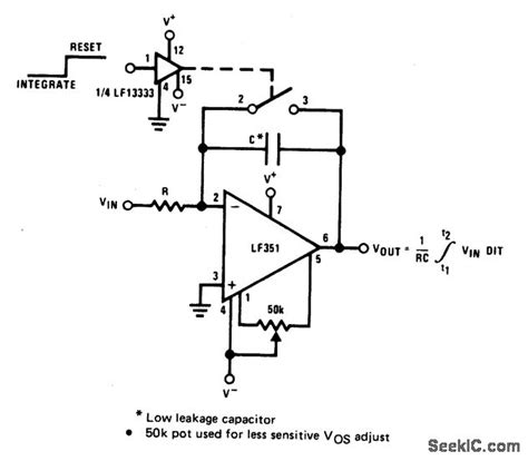 integrator circuit basics long time integrator basic circuit circuit diagram seekic