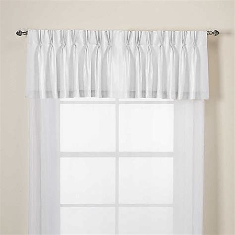 argentina curtains bed bath and beyond argentina pinch pleat back tab window valance bed bath