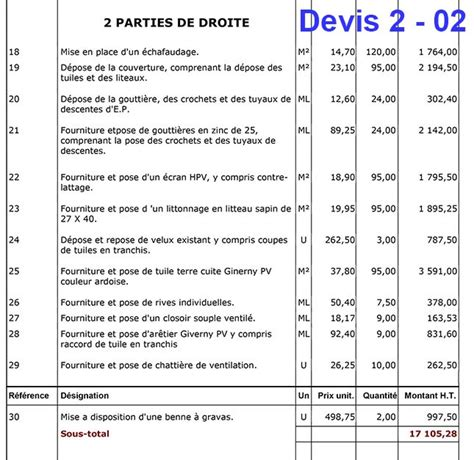 Tuile Tarif by Toiture Prix Ma Toiture
