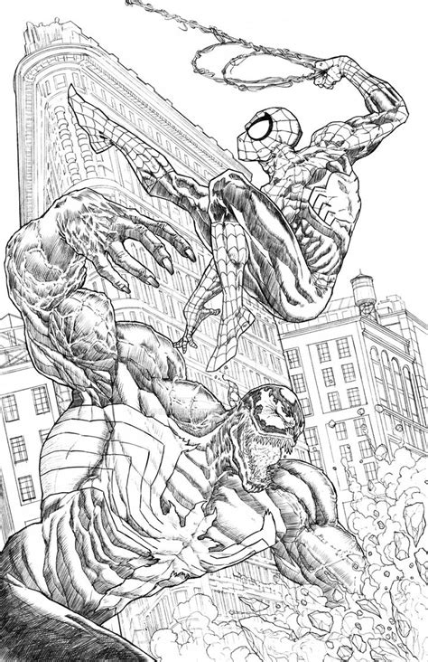 spiderman vs venom by illustr8now on deviantart