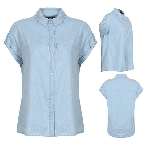 light blue button up shirt womens new womens light blue denim shirt button up cap