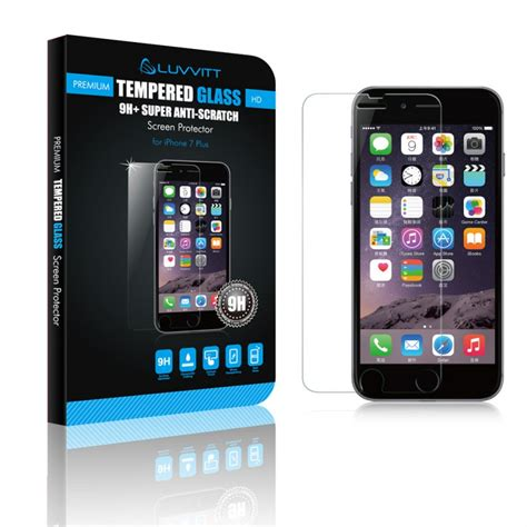 iphone   tempered glass screen protector luvvitt