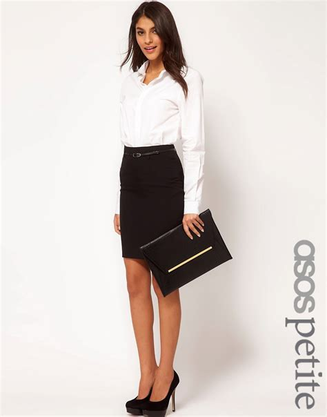 asos asos belted pencil skirt at asos