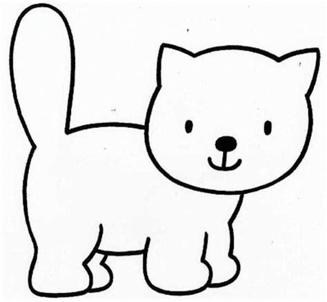 imagenes de animales para calcar gatos para colorear pintar y calcar rincon util