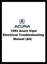 car repair manuals download 1993 acura vigor navigation system 1993 acura vigor electrical troubleshooting manual all