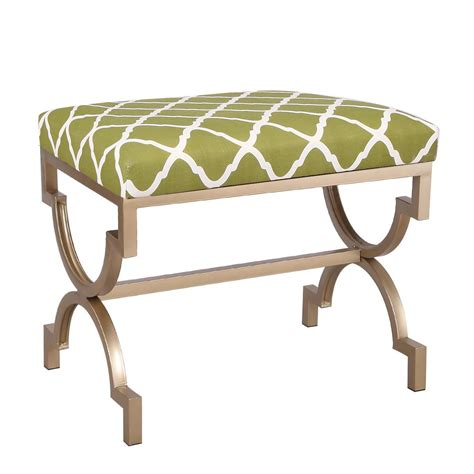 Upholstered X Bench Ottoman Joveco Upholstered Flax Cushion Fabric Metal Frame Ottoman Bench X Leg Joveco
