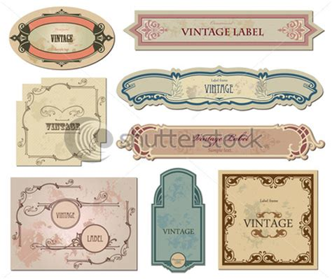 vintage labels templates images
