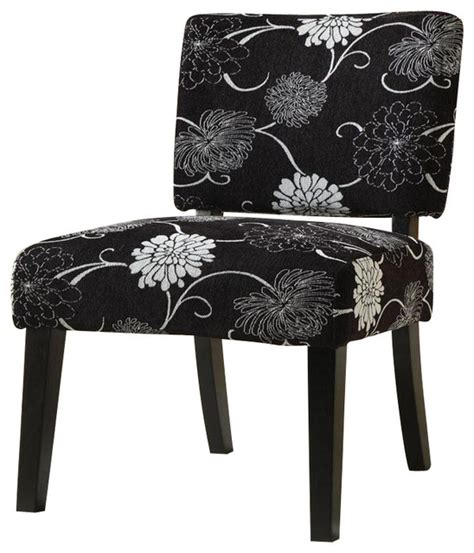 coaster accent chair  floral black  white contemporary armchairs  accent chairs