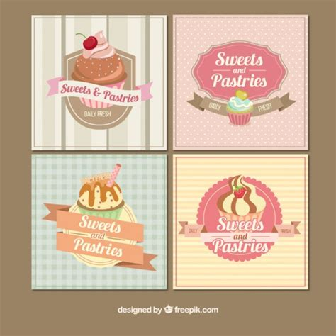 imagenes vintage reposteria tarjetas vintage de panader 237 a descargar vectores gratis