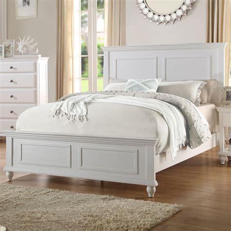 White Wood Headboard Bedroom White Wood Bed Frame Headboard Footboard Rectangular Sketche Bed Ebay