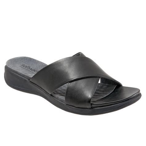 Homypro Sandal Slip On D 001 Black softwalk tillman s slip on sandal free shipping