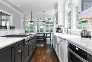 Kitchen Sink And Faucet Sets black and white galley kitchen transitional kitchen
