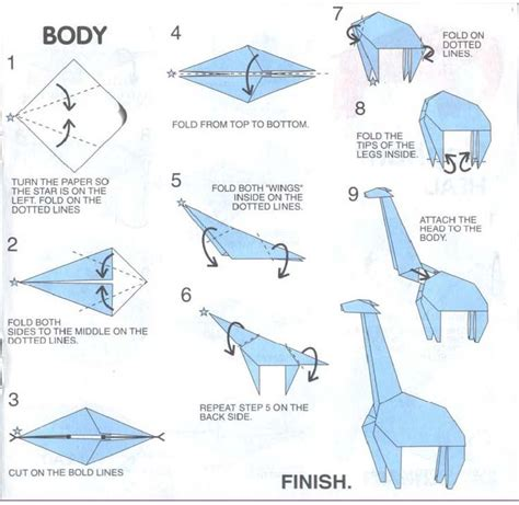 How To Make Paper Giraffe - 17 best images about origami and things on