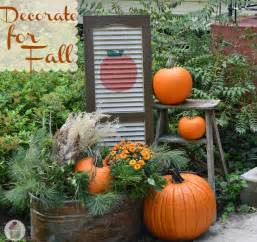 fall outdoor decorating diy painted shutter hoosier