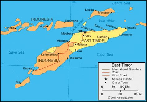east timor maps east timor map and satellite image
