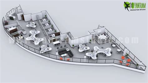 3d office floor plan modern 3d office floor plan concept yantram