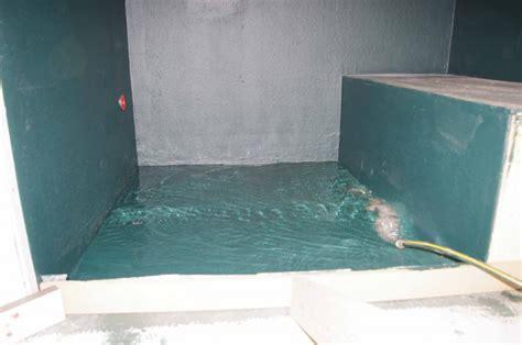 Bath Shower Stalls flood test for barrier free hobless or no dam shower