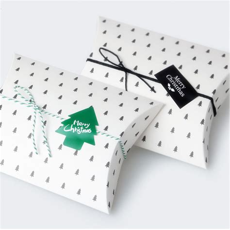 Box Pillow Mini 1 10 pieces 350gsm coffee tree pillow boxes cardboard boxes for biscuit cookie box
