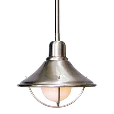 metal pendant light shades shop volume international 8 in w brushed nickel mini