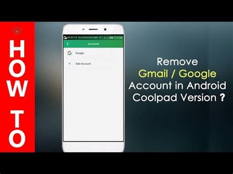 remove gmail account from android how to delete a gmail account from android smartphone