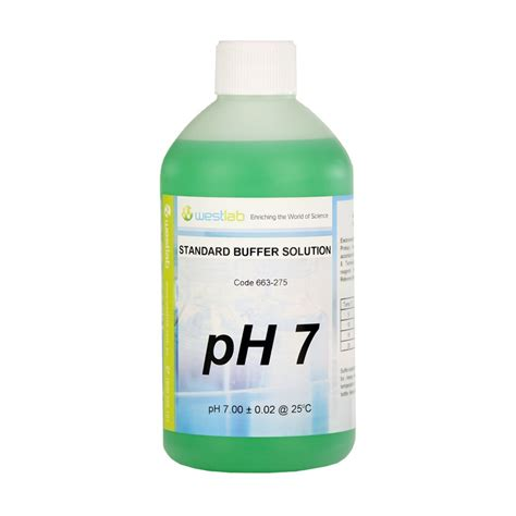 buffer solution ph 7 0 green 500ml ar westlab