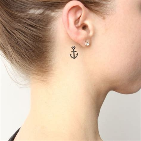 small heart tattoos behind ear 25 best ideas about small anchor tattoos on