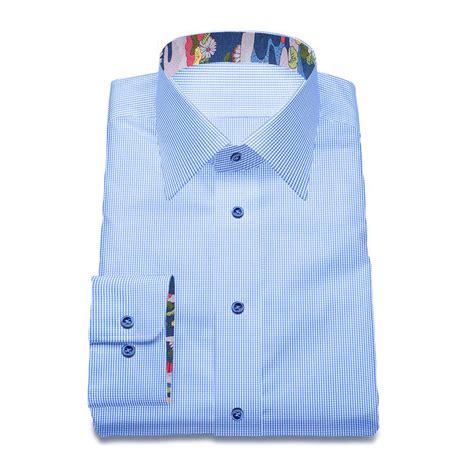 design your dress shirt original stitch blue checkered shirt dress shirt