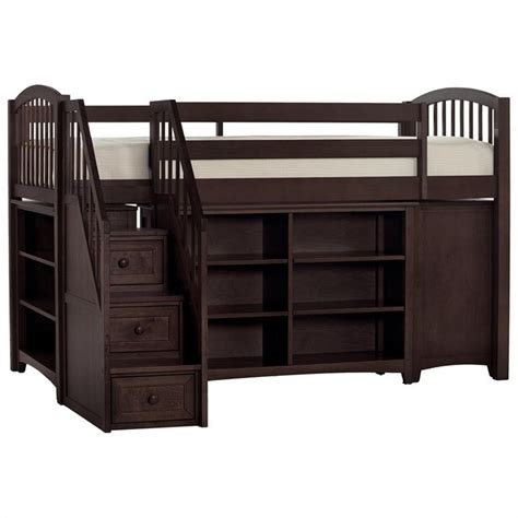 loft bed with desk and stairs ne kids school house storage junior loft bed with stairs