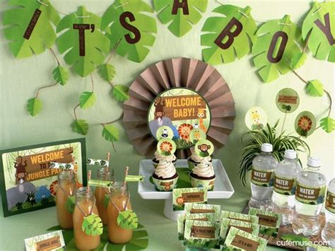 Baby Shower Jungle Decorations by Jungle Safari Theme Baby Shower Printable Package