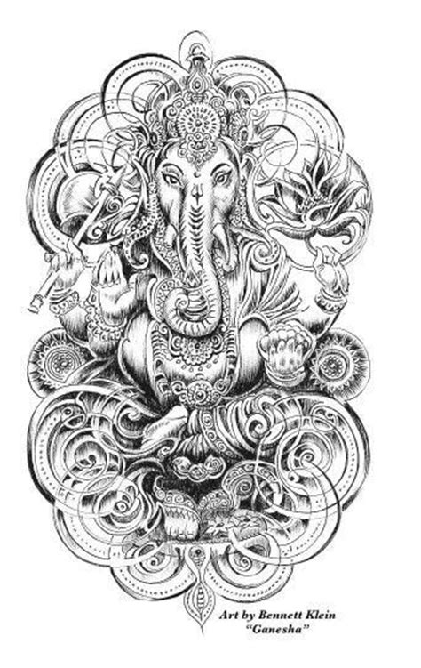 ganesha tattoo klein 17 best images about coloring on pinterest dovers gel