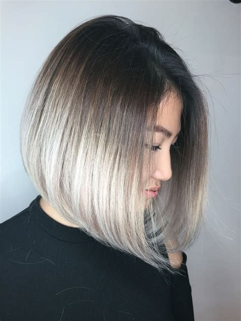 step by step for bob ombre formulas gt gt gt a line bob ombre behindthechair com
