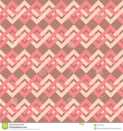 decorative designs on paper seamless pattern of interlacing lines in retro style