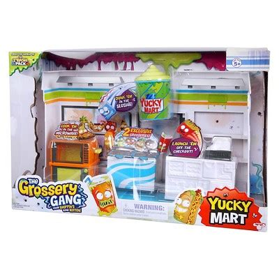 the grossery inside the yucky mart seek and find books the grossery gang yucky mart playset target inventory