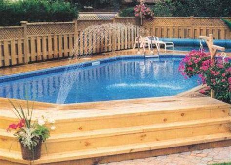 Inground Pool Decks Semi Inground Pool Deck Designs Studio Design