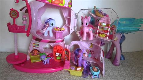 my little pony house my little pony friendship is magic sweetie bell s and rarity s gumball house toy