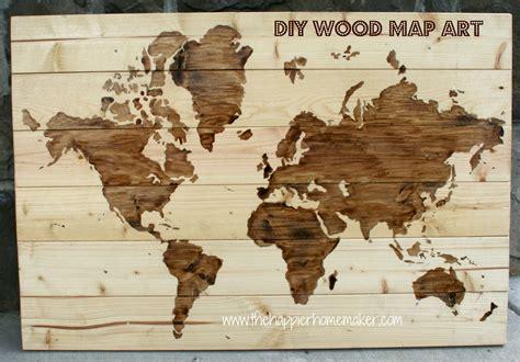 Wooden World Map by Diy Wooden World Map Art The Happier Homemaker
