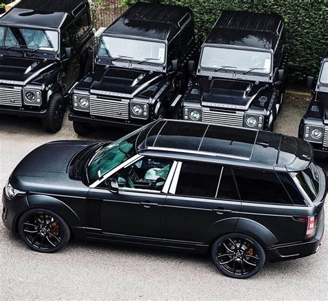 luxury black range rover triple black range rover vogue luxury cars pinterest