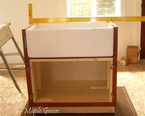 how to build a cabinet for a farmhouse sink maple grove how to build a support structure for a farm