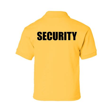 Polo T Shirt Kaosbaju Scurity yellow security polo shirt