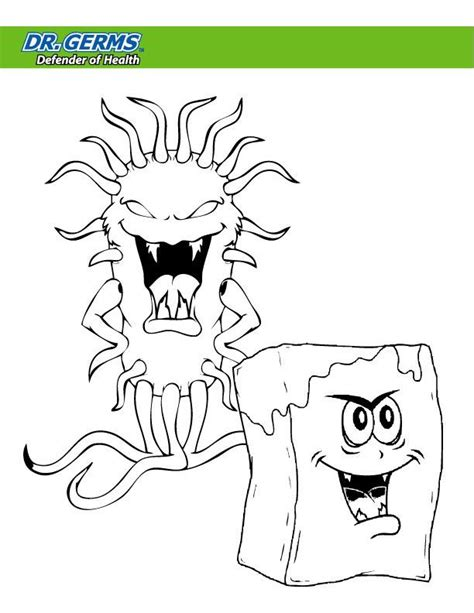 free book of germs coloring pages