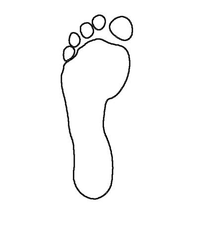 image gallery human footprint template