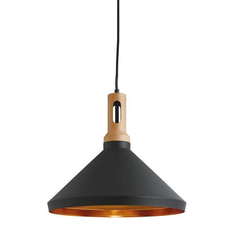 black cone pendant light cone black pendant light with gold inner