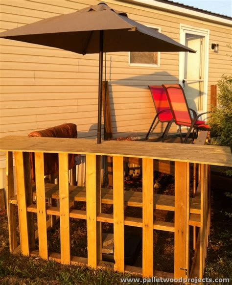 Recycled Pallet Tiki Bar Ideas   Pallet Wood Projects