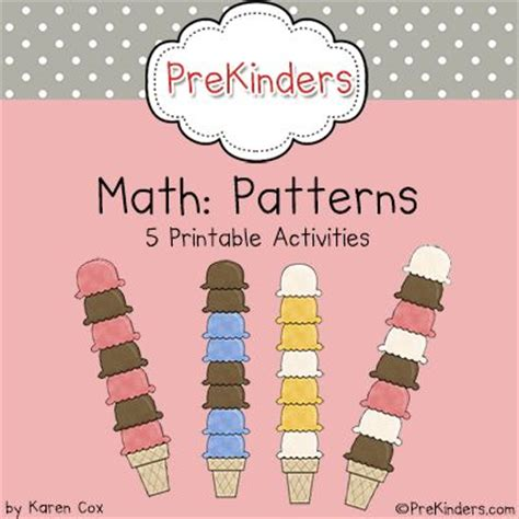 Pre K Math Patterns Prekinders | pre k math patterns pre kinder patterns and student